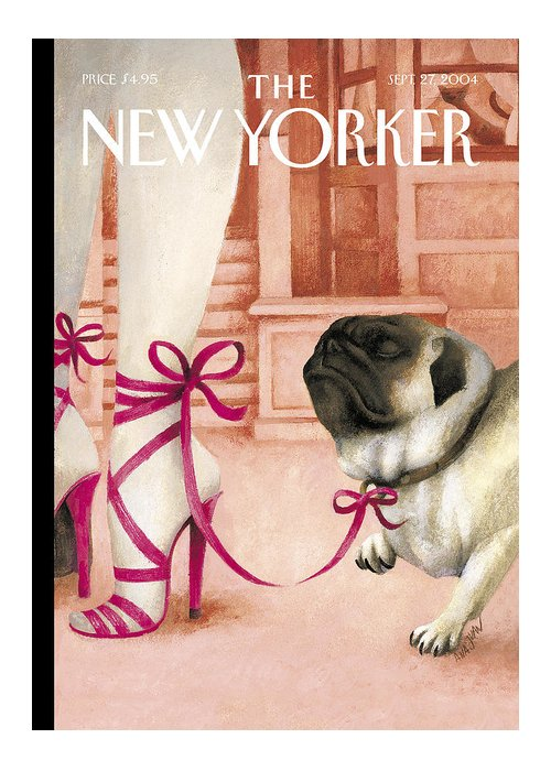 Brought Greeting Card featuring the photograph The New Yorker Cover - September 27th, 2004 by Ana Juan
