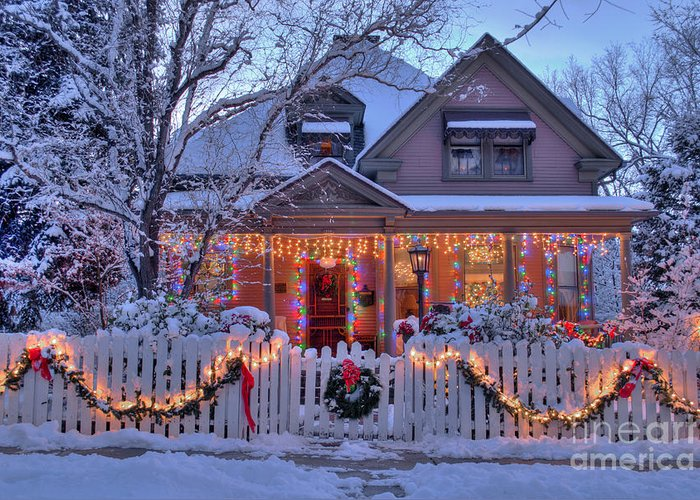 Diana Graves Photography Greeting Card featuring the photograph The Night Before Christmas by K D Graves