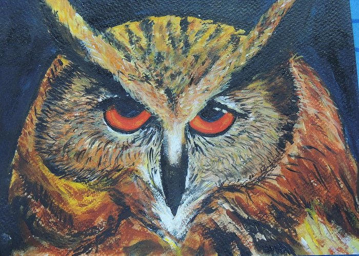 Greeting Card featuring the photograph The Night Owl by Sushma Bengani