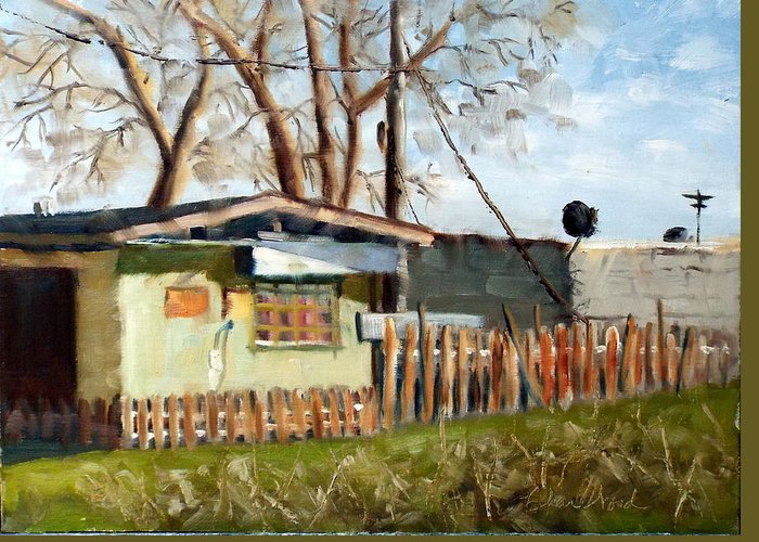 #buildings Greeting Card featuring the painting The Old Barracks by Char Wood