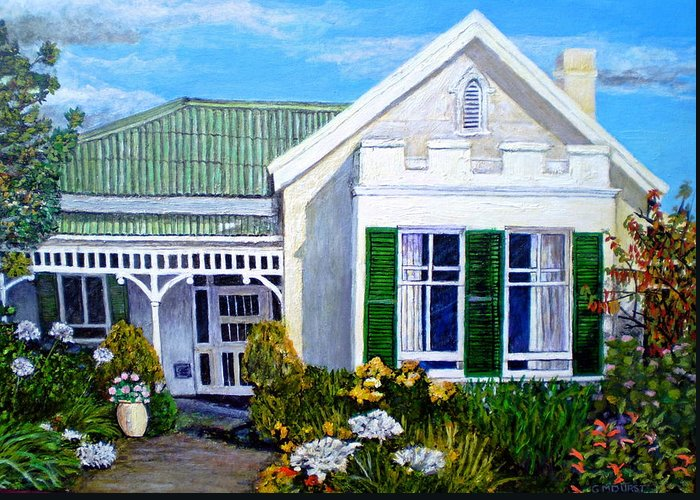 House Greeting Card featuring the painting The Old Farm House by Michael Durst