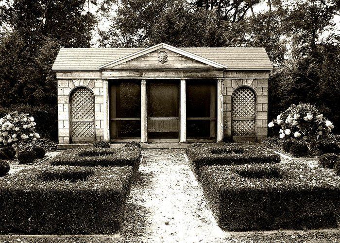 Garden Greeting Card featuring the photograph The Old Garden House by Tom Reynen