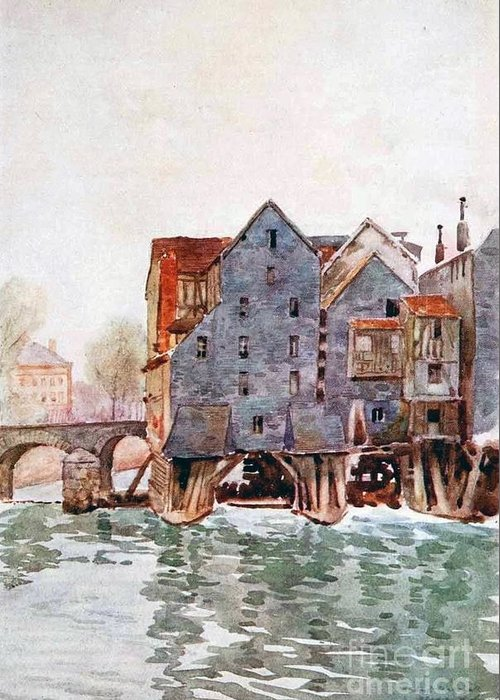 Herbert Menzies Marshall - The Old Mills At Meaux Greeting Card featuring the painting The Old Mills At Meaux by MotionAge Designs