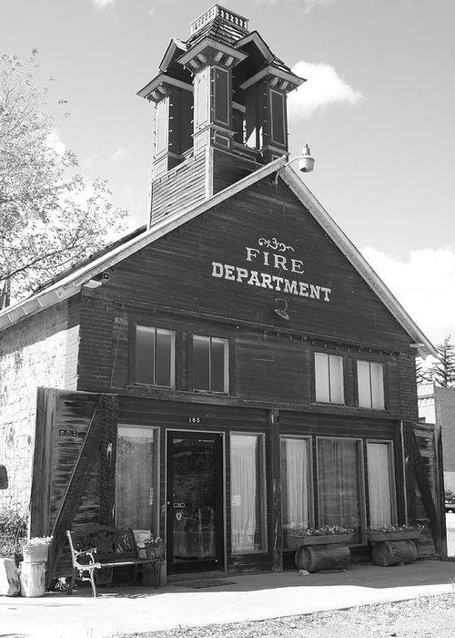 American West Greeting Card featuring the photograph The Old Ridgway Firehouse by Eric Glaser