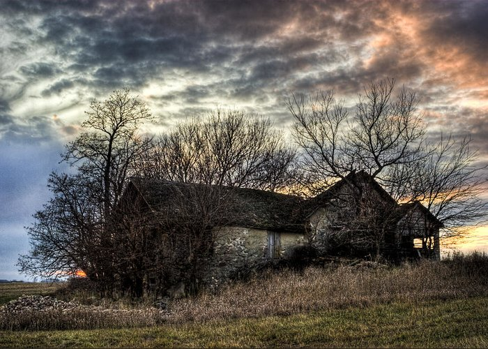 Rural Greeting Card featuring the photograph The Old Stone House by Ian Van Schepen