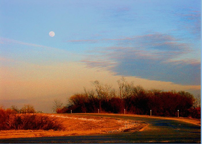 Landscape Greeting Card featuring the photograph The On Ramp by Steve Karol
