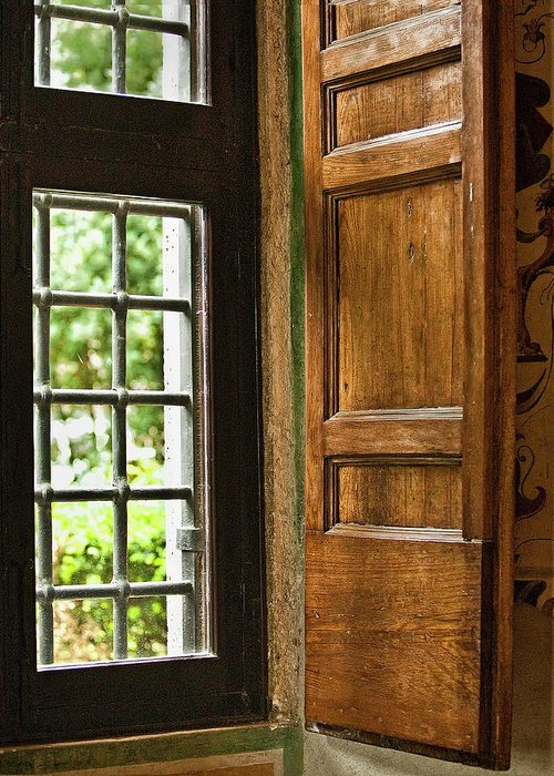 Window Greeting Card featuring the photograph The Open Window by Lynn Andrews
