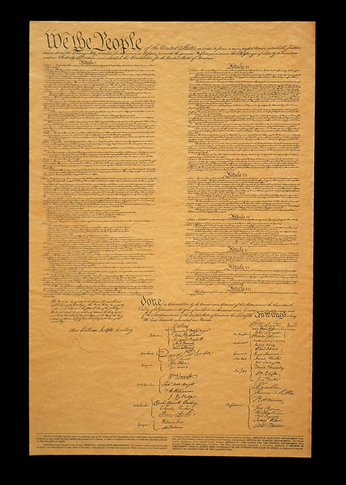 Us Constitution Greeting Cards