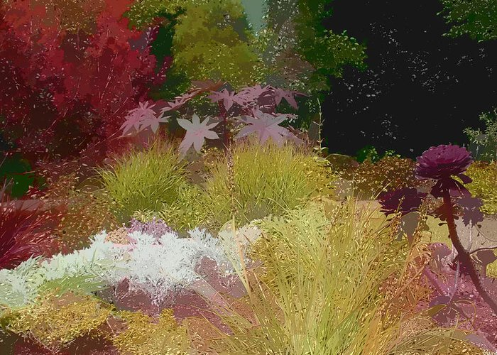 Paint Effect Photo Greeting Card featuring the photograph The Painted Garden by Tom Prendergast