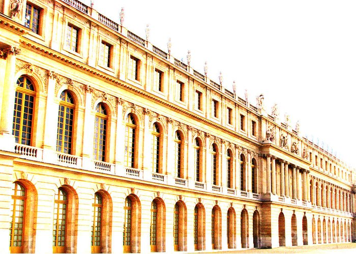 Versailles Greeting Card featuring the photograph The Palace by Amanda Barcon