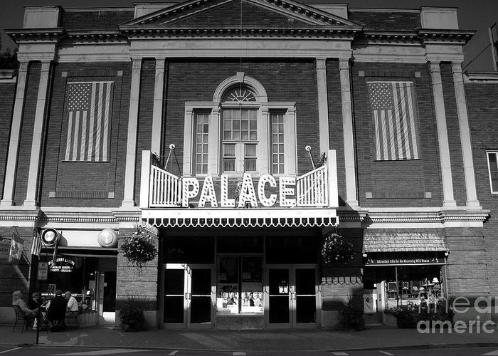 Palace Theater Greeting Card featuring the photograph The Palace by David Lee Thompson