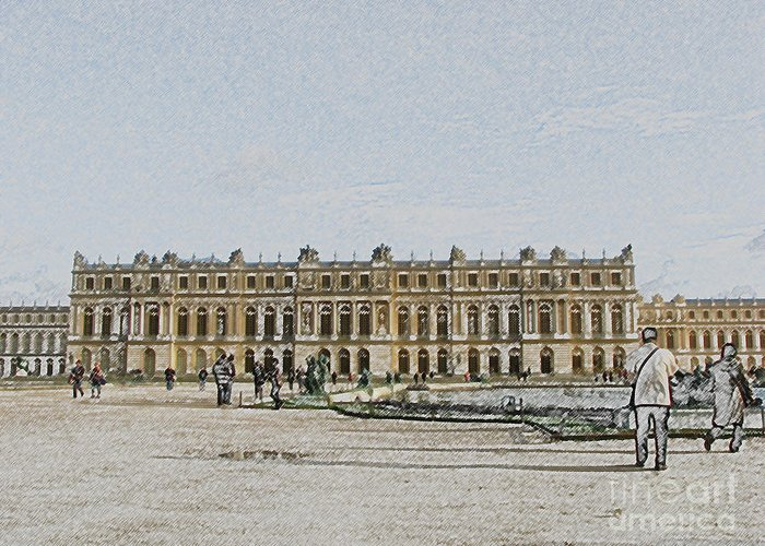 Palace Greeting Card featuring the photograph The Palace Of Versailles by Amanda Barcon