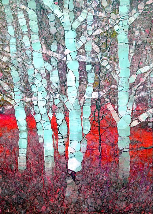 Tree Greeting Card featuring the photograph The Pale Trees Of Winter by Tara Turner