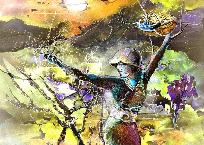 Bible Painting Greeting Card featuring the painting The Parable Of The Sower by Miki De Goodaboom