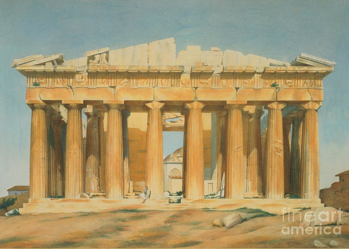 Athens Ruins Greeting Cards
