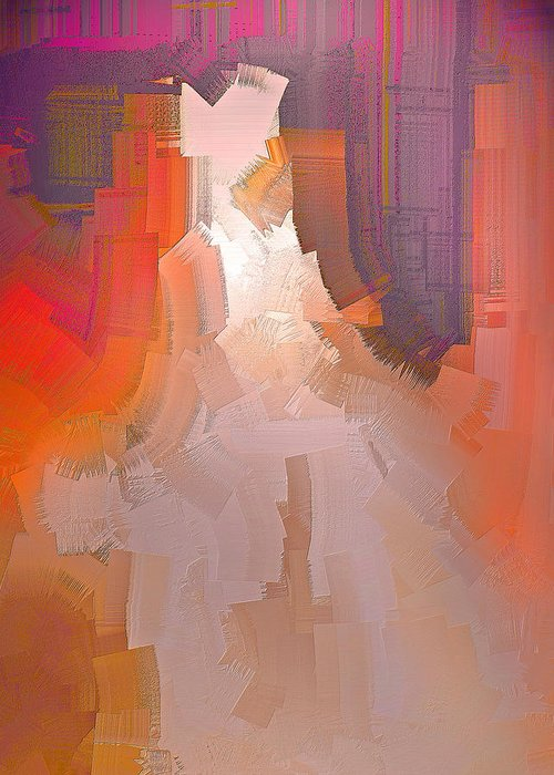 Abstract Greeting Card featuring the digital art The Past Warns The Future by Michael Durst