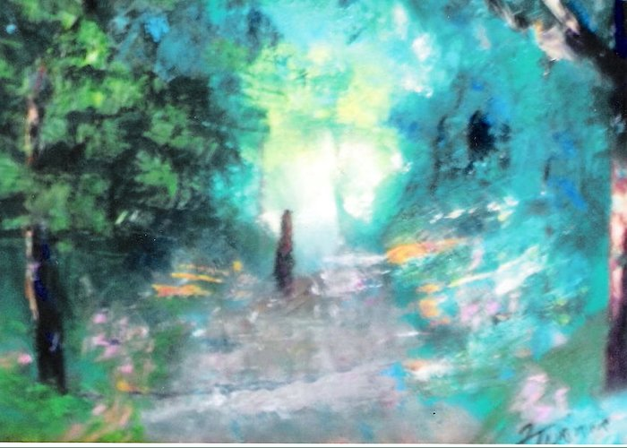 Nature Greeting Card featuring the painting The Path by Felix Turner