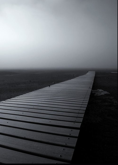 Dock Greeting Card featuring the photograph The Path by Mike Dawson