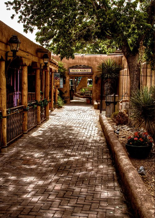 New Mexico Greeting Card featuring the photograph The Patio Market by David Patterson
