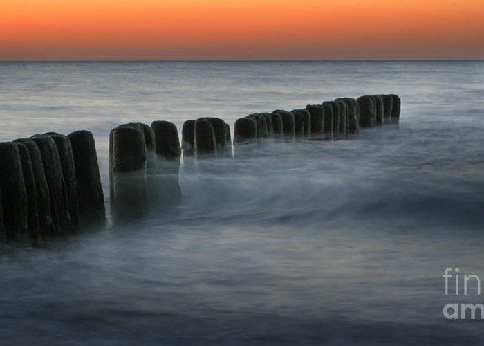 Sea Greeting Card featuring the photograph The Peaceful Sea by Angel Ciesniarska