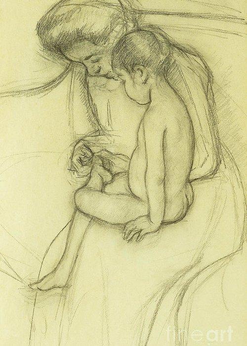 Cassatt Drawings Greeting Cards