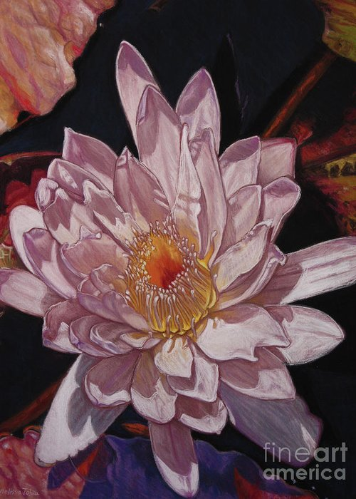 Botanical Greeting Card featuring the painting The Perfect Lily by Melissa Tobia