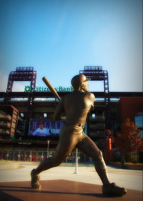 Mike Schmidt Greeting Card featuring the photograph The Phillies - Mike Schmidt by Bill Cannon
