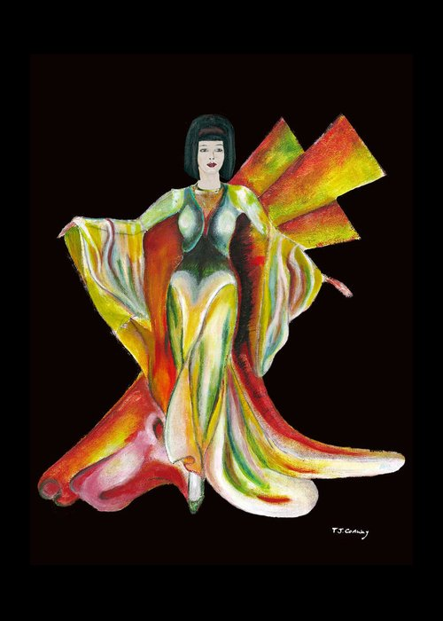Dresses Greeting Card featuring the painting The Phoenix 2 by Tom Conway