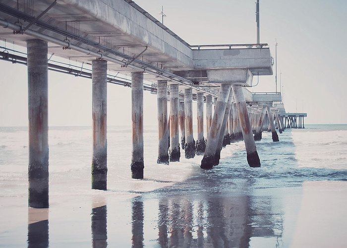Photograph Greeting Card featuring the photograph The Pier by Nastasia Cook