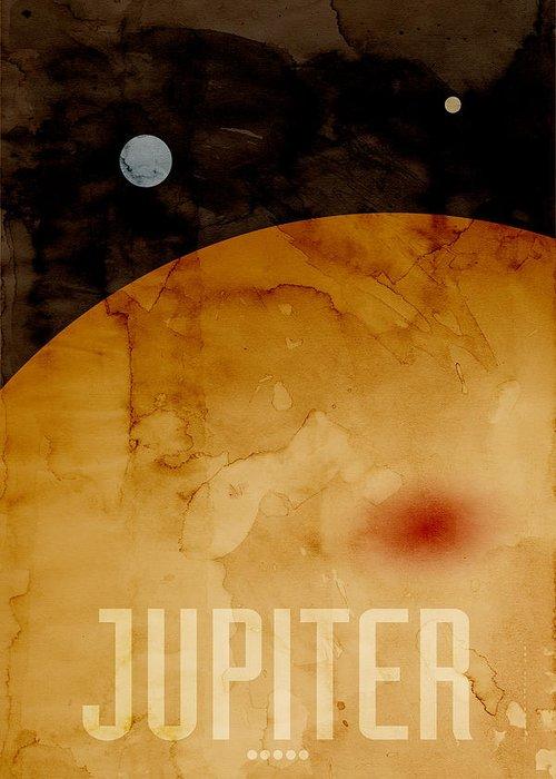 Jupiter Greeting Card featuring the digital art The Planet Jupiter by Michael Tompsett