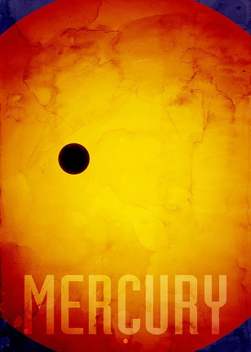 Mercury Greeting Card featuring the digital art The Planet Mercury by Michael Tompsett
