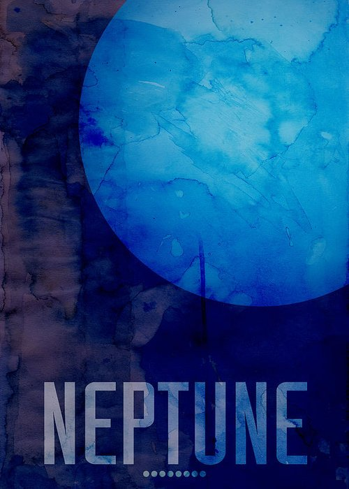 Neptune Greeting Card featuring the digital art The Planet Neptune by Michael Tompsett