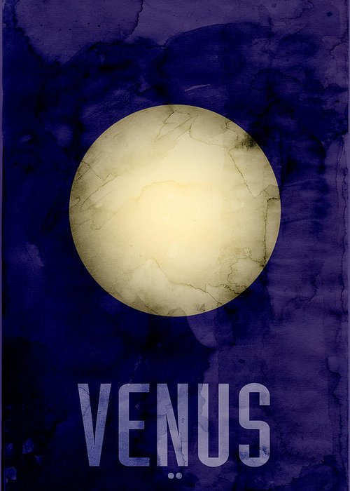 Venus Greeting Card featuring the digital art The Planet Venus by Michael Tompsett