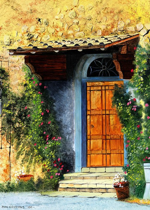 Landscape Greeting Card featuring the painting The Portal by Don Griffiths