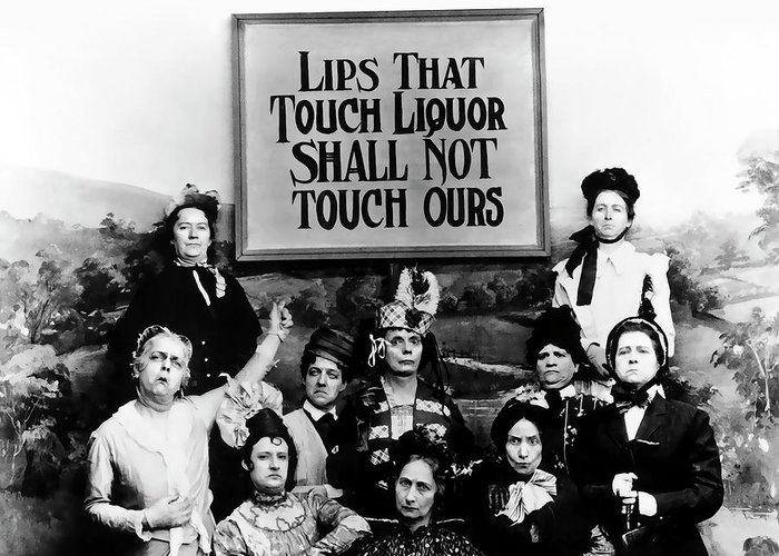 Prohibition Greeting Card featuring the photograph The Prohibition Temperance League 1920 by Daniel Hagerman