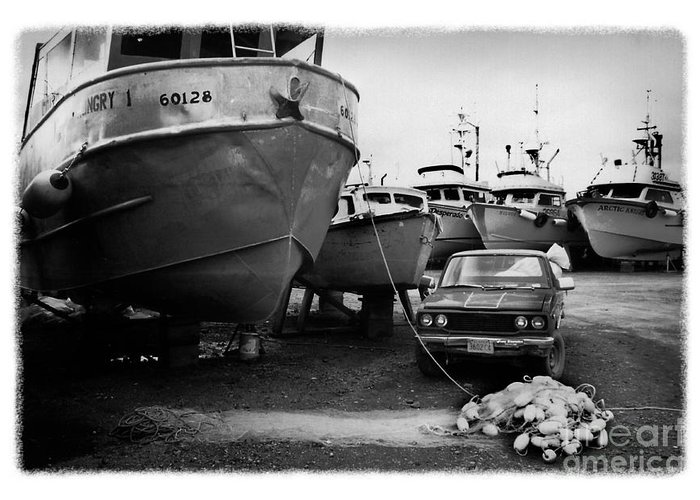 Alaska Greeting Card featuring the photograph The Real Alaska - Dry Dock 1 by Pete Hellmann