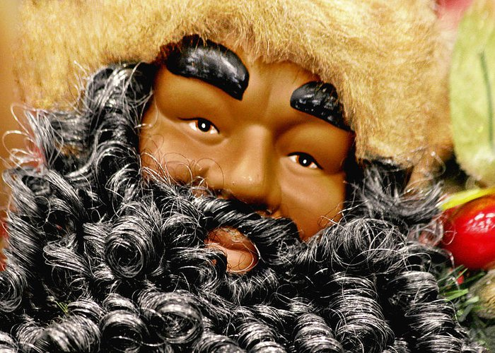 St Greeting Card featuring the photograph The Real Black Santa by Christine Till