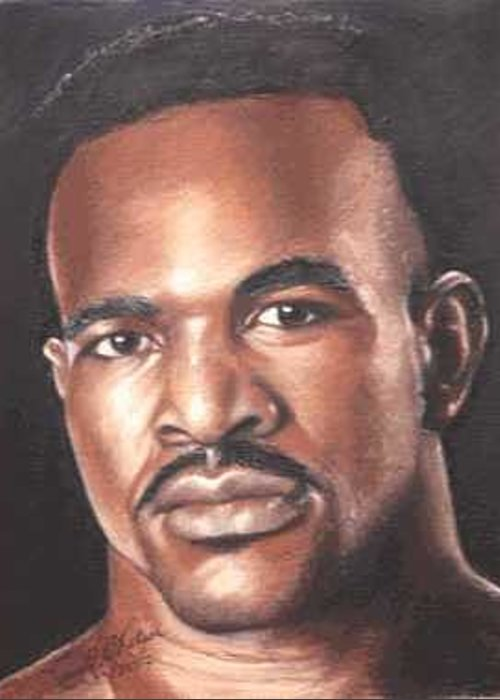 The Real Deal Greeting Card featuring the painting The Real Deal - Evander Holyfield by Kenneth Kelsoe