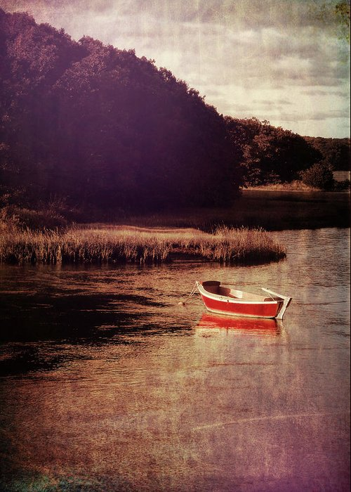 Boat Greeting Card featuring the photograph The Red Boat by JAMART Photography