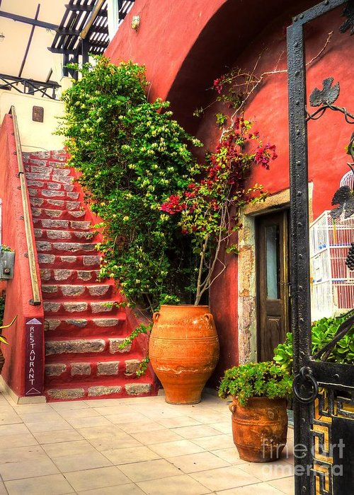 Doorways Greeting Card featuring the photograph The Red Staircase by Michael Garyet