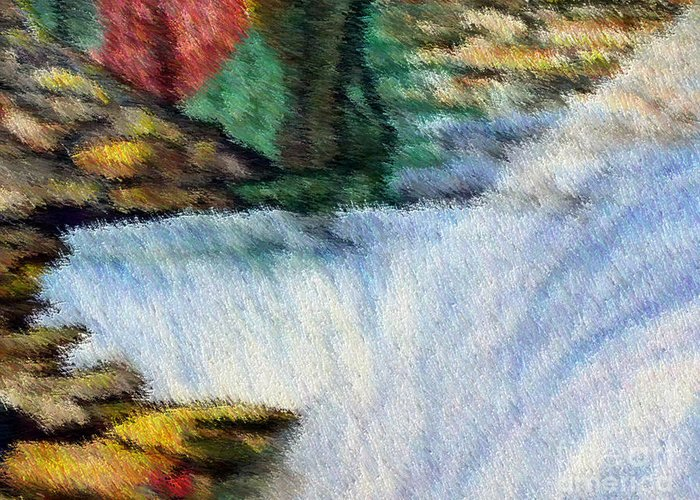 Scenery Greeting Card featuring the digital art The Refreshing Se3 by Brenda L Spencer
