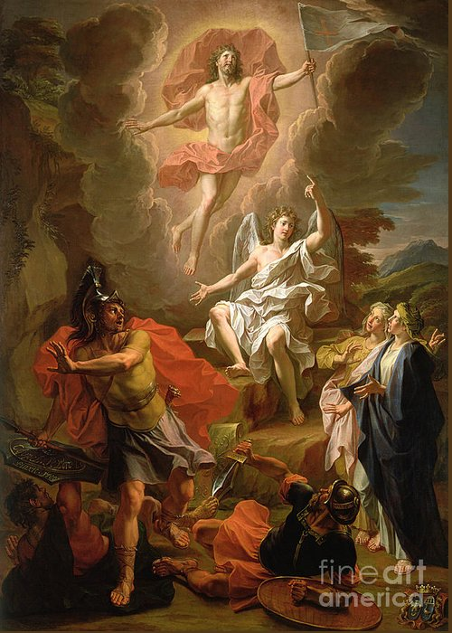 The Resurrection Of Christ Greeting Card featuring the painting The Resurrection Of Christ by Noel Coypel
