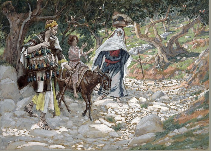 Ass Greeting Card featuring the painting The Return From Egypt by Tissot