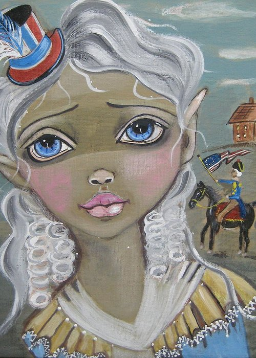 Big Eye Art Greeting Card featuring the painting The Return by Vyckie Van Goth