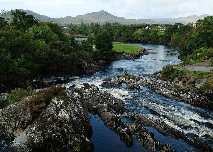 River Greeting Card featuring the photograph The River Sneem by Joe Bonita