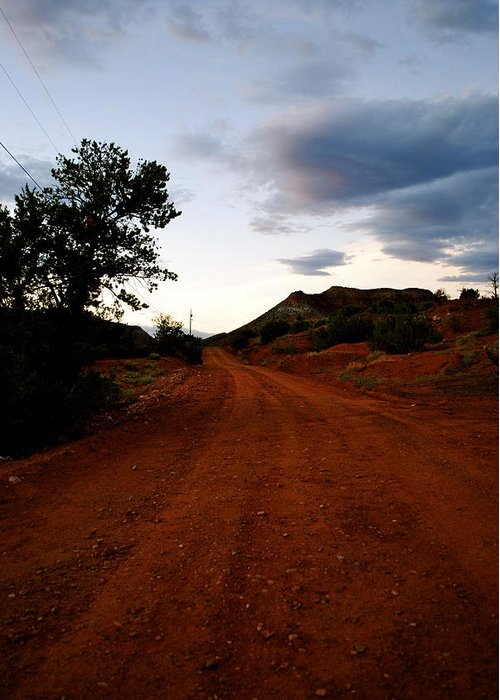 New Mexico Photographs Greeting Card featuring the photograph The Road Ahead by Wendy Girard