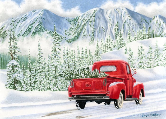 Snowy Roads Greeting Cards