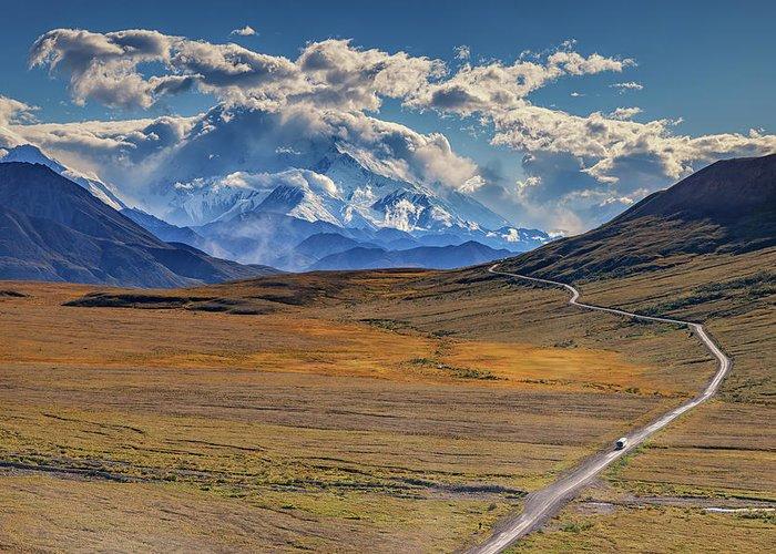 Alaska Greeting Card featuring the photograph The Road To Denali by Rick Berk