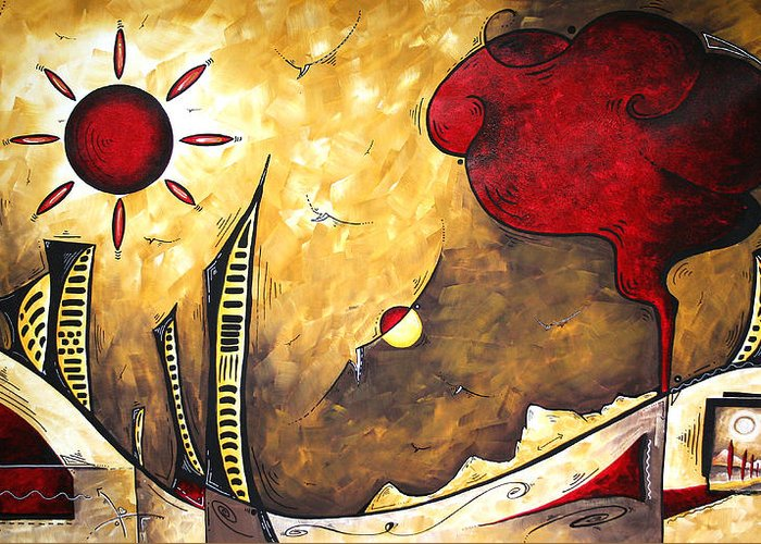 Art Greeting Card featuring the painting The Road To Life Original Madart Painting by Megan Duncanson