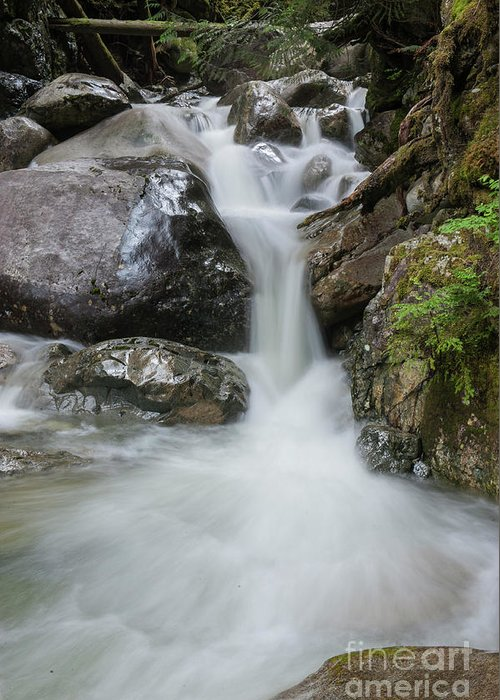 Rock Greeting Card featuring the photograph the Rock Falls by Rod Wiens